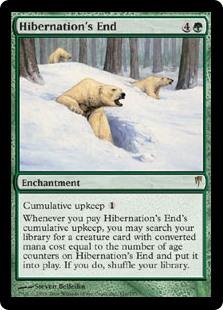 Image of card Hibernation's End, Coldsnap printing.
